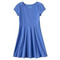 Girls 4-10 Jumping Beans® Solid Skater Dress