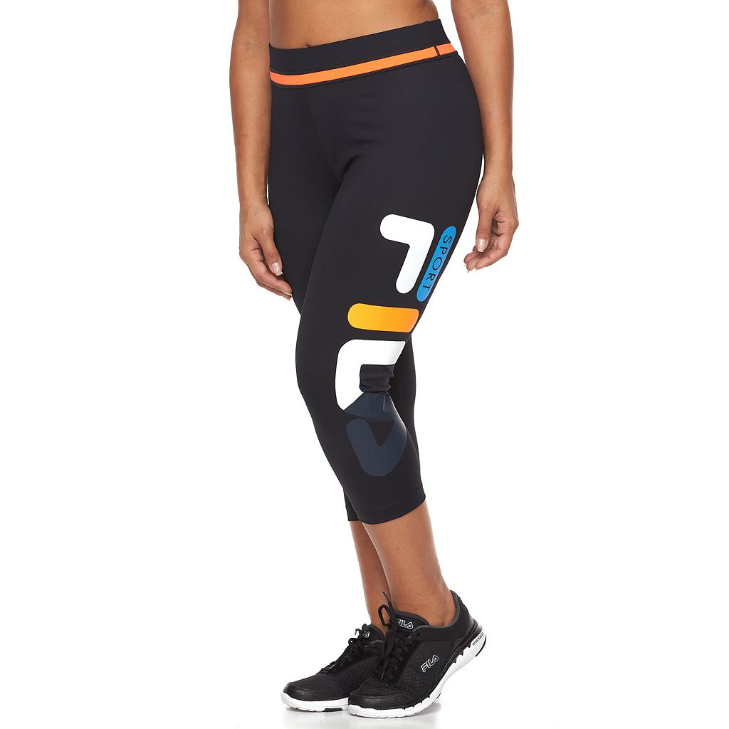 Plus Size FILA SPORT® Rainbow Blast Capri Workout Leggings