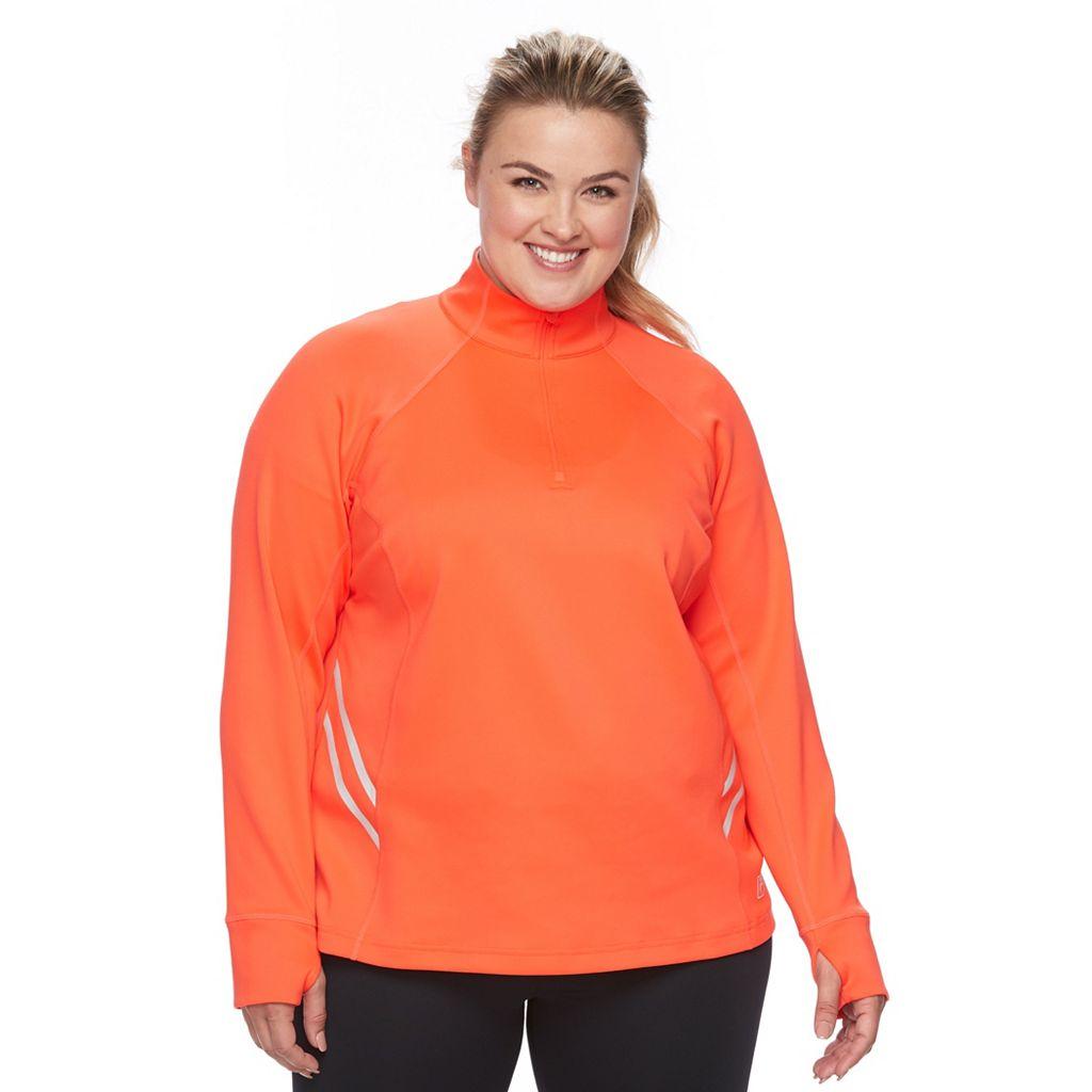 Plus Size FILA Sport¨ Quarter-Zip Track Jacket