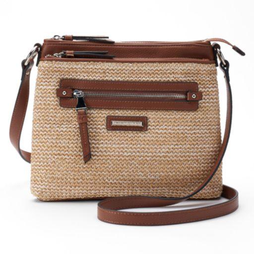 Dana Buchman Gracie Straw Crossbody Bag