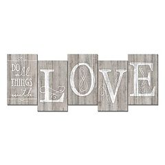 Staggered 'Do All with Love' Wall Decor