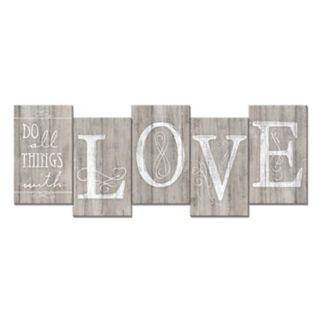 """Staggered """"Do All with Love"""" Wall Decor"""