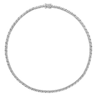 Sterling Silver 1 Carat T.W. Diamond Braided Necklace