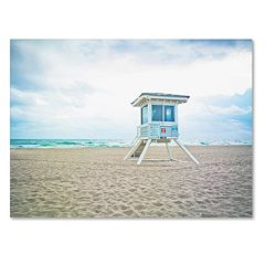 Trademark Fine Art Florida Beach Chair 2 Canvas Wall Art