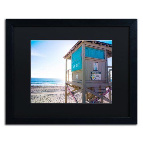 Trademark Fine Art Florida Beach Guard Framed Wall Art