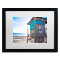 Trademark Fine Art Florida Beach Guard Framed Wall Art