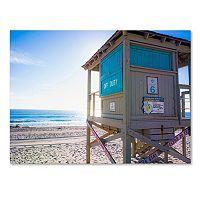 Trademark Fine Art Florida Beach Guard Canvas Wall Art