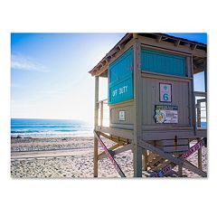 Trademark Fine Art Florida Beach Guard Canvas Wall Art