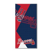 Atlanta Braves Puzzle Oversize Beach Towel by Northwest