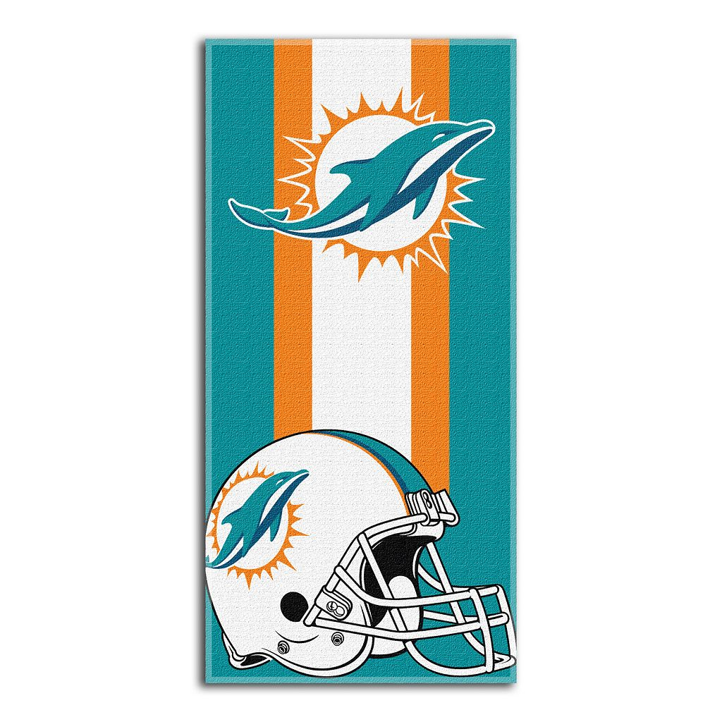 Miami Dolphins Zone Beach Towel
