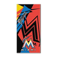 Miami Marlins Puzzle Oversize Beach Towel by Northwest