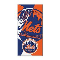 New York Mets Puzzle Oversize Beach Towel by Northwest