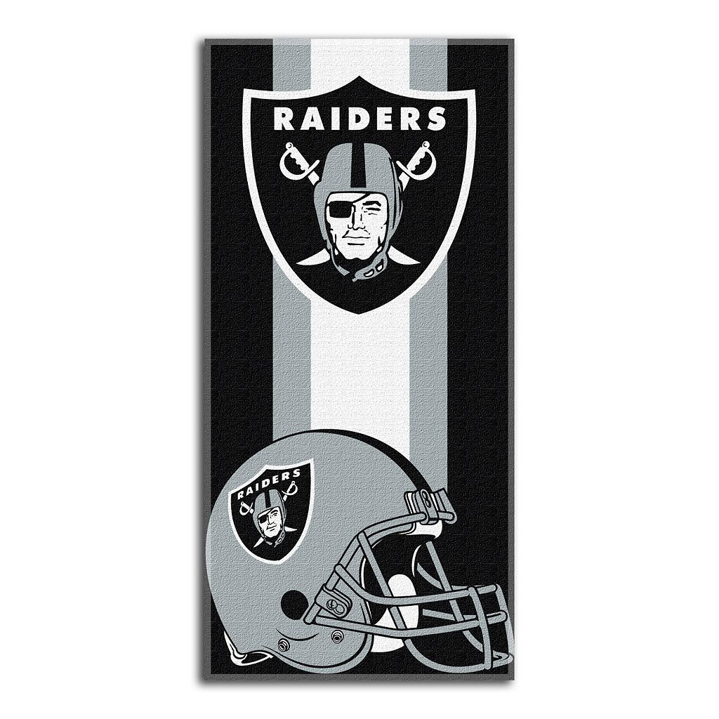 Oakland Raiders Zone Beach Towel