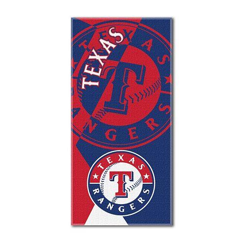 Texas Rangers Puzzle Oversize Beach Towel by Northwest