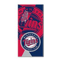 Minnesota Twins Puzzle Oversize Beach Towel by Northwest