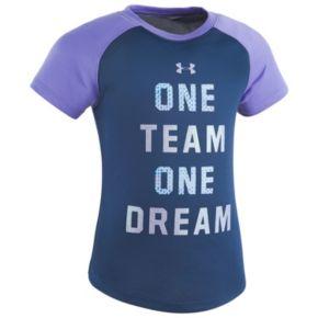"Girls 4-6x Under Armour ""One Team One Dream"" Raglan Tee"