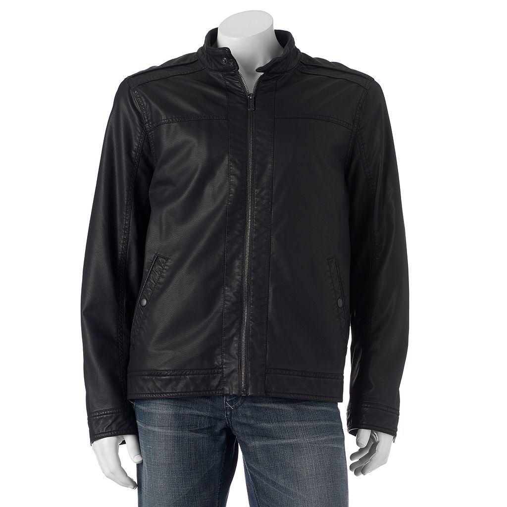 Big & Tall Apt. 9® Modern-Fit Textured Faux-Leather Jacket