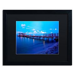 Trademark Fine Art Florida Pier Framed Wall Art