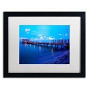 Trademark Fine Art Florida Pier Framed Wall Art