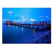 Trademark Fine Art Florida Pier Canvas Wall Art