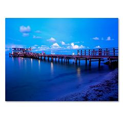 Trademark Fine Art Florida Pier Canvas Wall Art