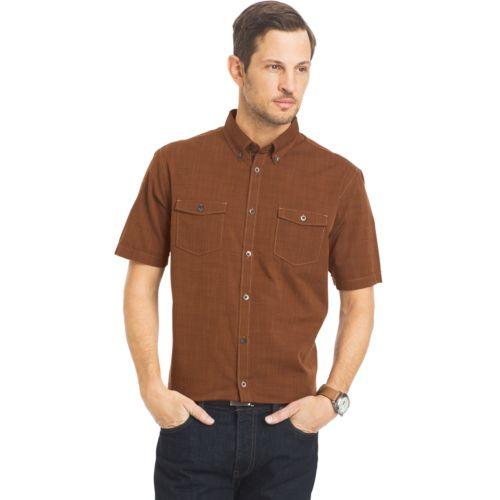 Men's Van Heusen Classic-Fit Solid Utility Button-Down Shirt