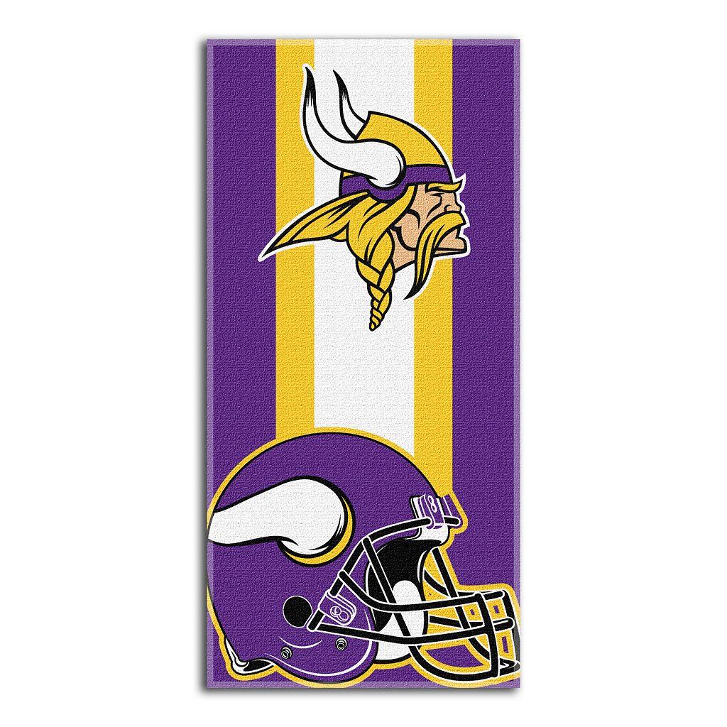 Minnesota Vikings Zone Beach Towel