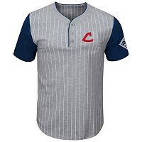 Men's Majestic Cleveland Indians Cooperstown Life Or Death Top