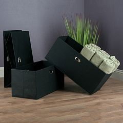 Winsome Torino Folding Storage Basket 3 pc Set