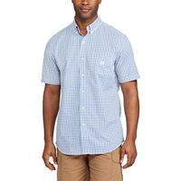 Big & Tall Chaps Classic-Fit Tattersall Checked Easy-Care Button-Down Shirt