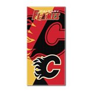 Calgary Flames Puzzle Oversize Beach Towel by Northwest
