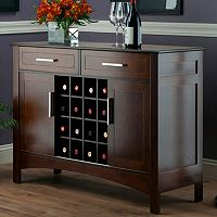 Winsome Gardner Wine Storage Buffet Table