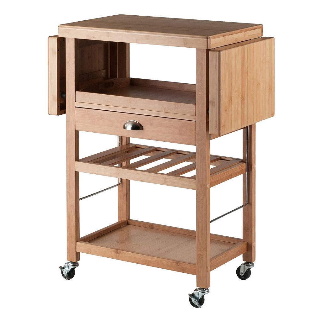 Winsome Barton Rolling Space Saver Bar Cart