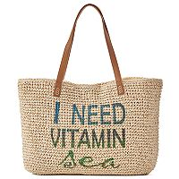 SONOMA Goods for Life™ Woven Straw Tote