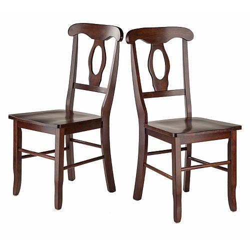 Winsome Renaissance Dining Chair 2-piece Set