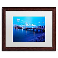 Trademark Fine Art Florida Pier Dark Finish Framed Wall Art