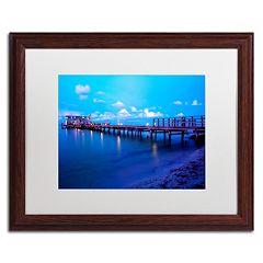 Trademark Fine Art Florida Pier Dark Finish Framed Wall Art