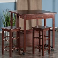 Winsome Fremont Space Saver Bar Table & Counter Stool 3 pc Set