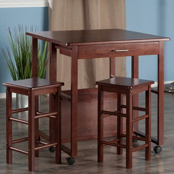 Winsome fremont space saver bar table counter stool 3 piece set watchthetrailerfo