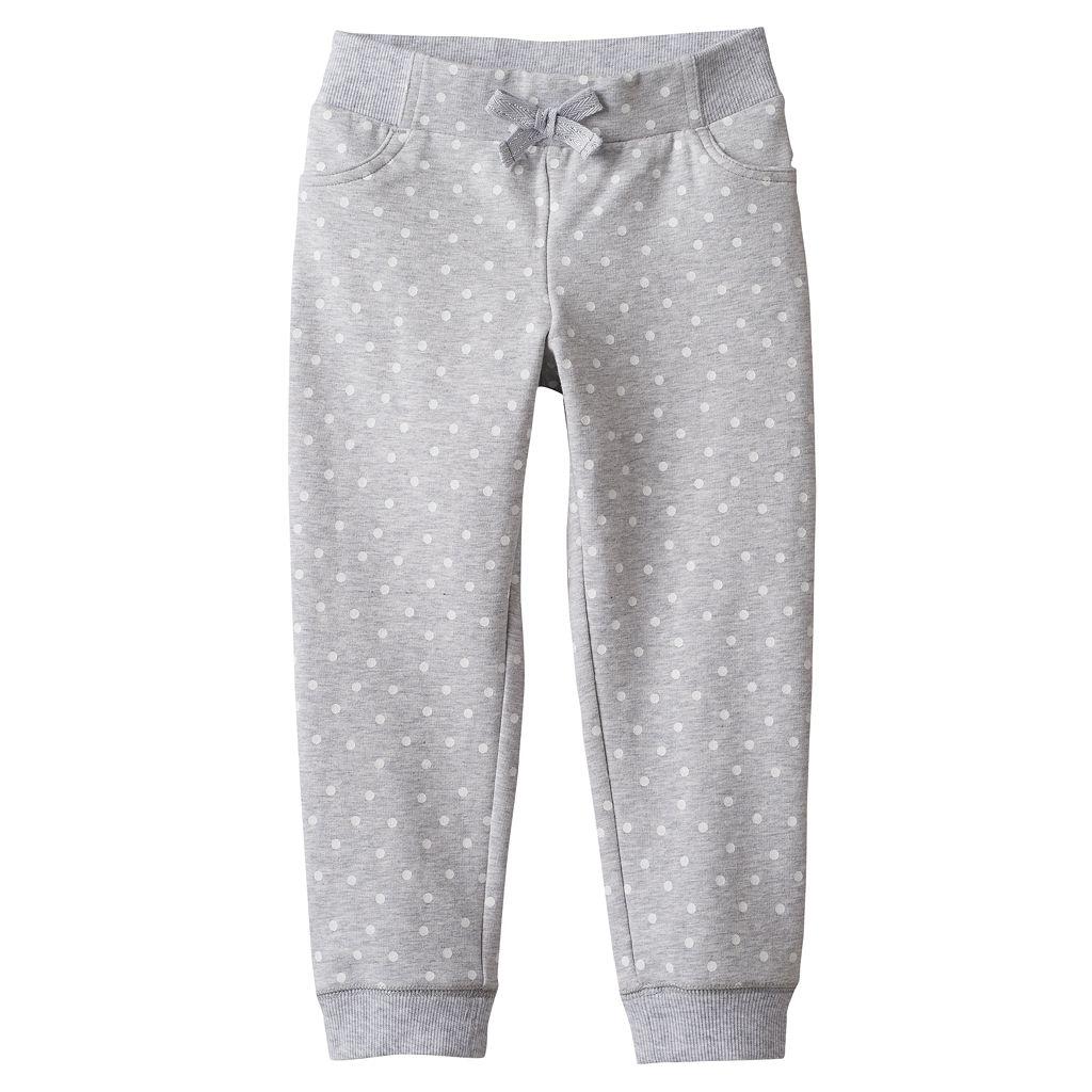 Baby Girl Jumping Beans® Dot Knit Jogger Pants