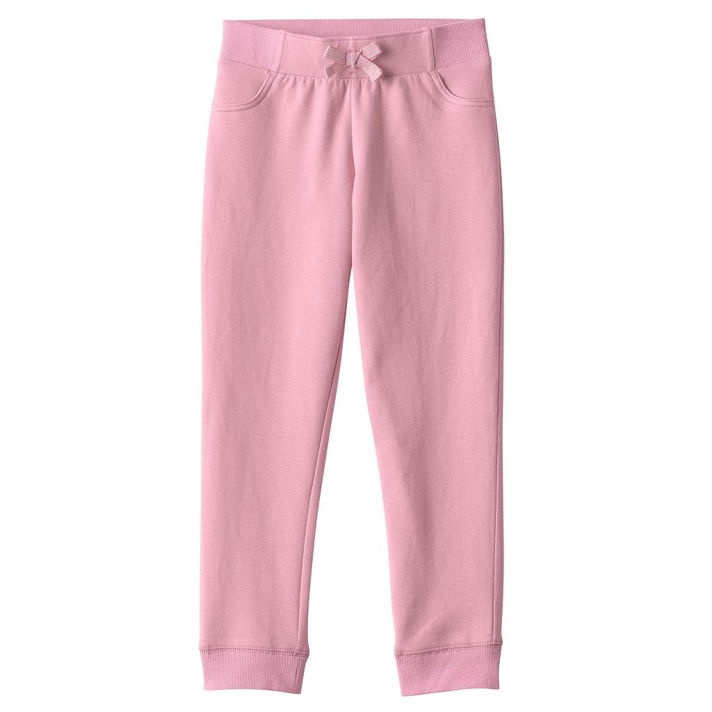 Baby Girl Jumping Beans® Solid Jogger Pants