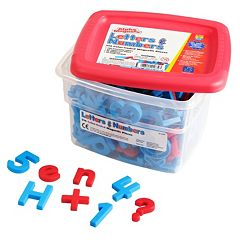 Educational Insights Alpha & Mathmagnets Color-Coded Magnetic Letters & Numbers 214 pc Set