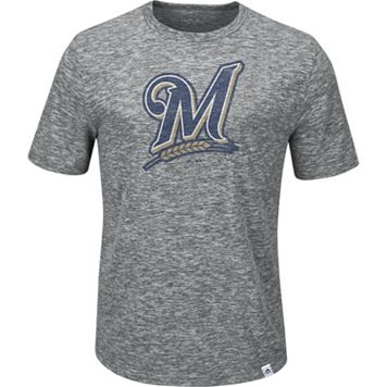 Men's Majestic Milwaukee Brewers Fast Pitch Tee