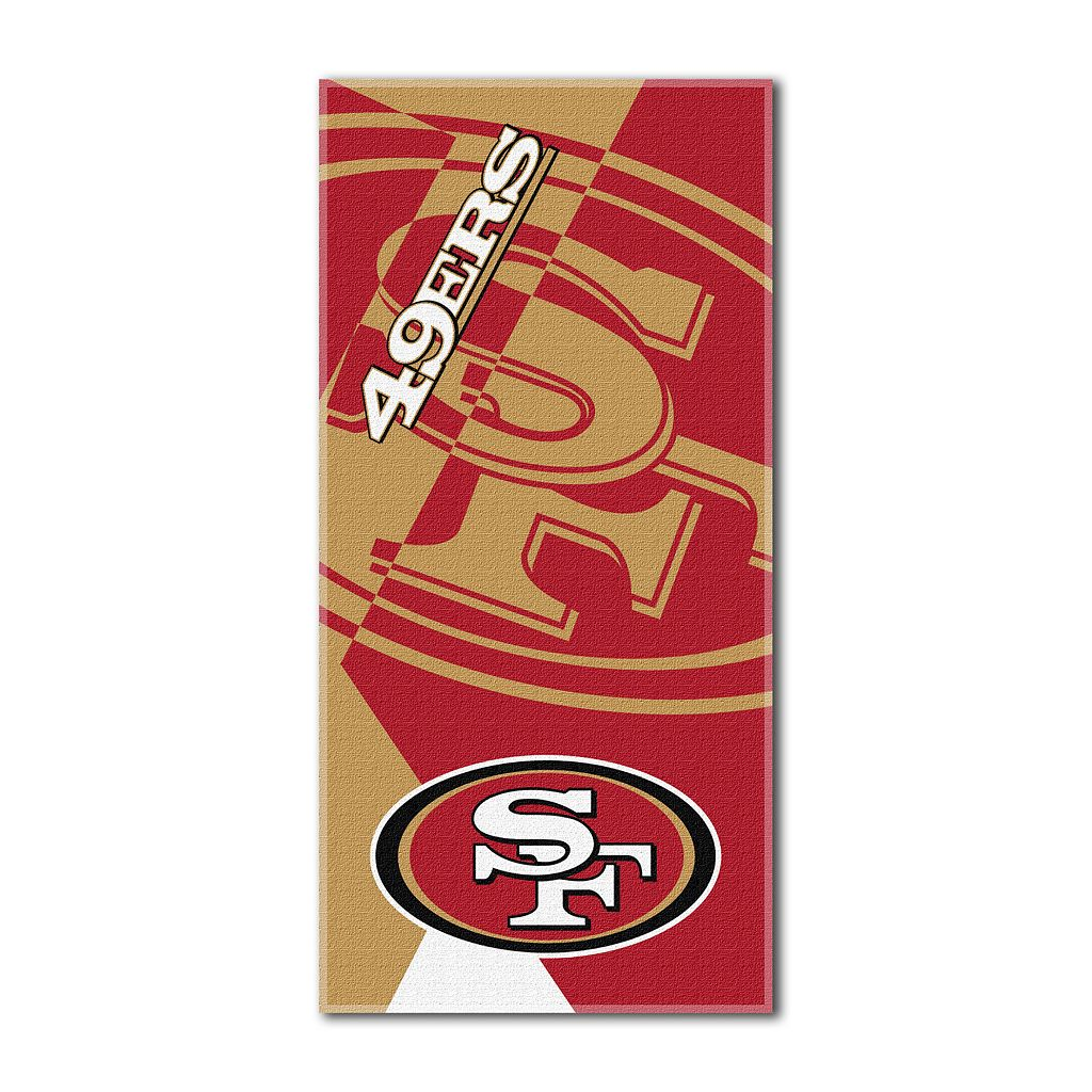 San Francisco 49ers Puzzle Oversize Beach Towel by Northwest