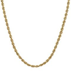 Everlasting Gold 14k Gold Rope Chain Necklace - 18 in