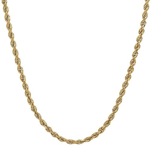 Everlasting Gold 14k Gold Rope Chain Necklace - 18 in.