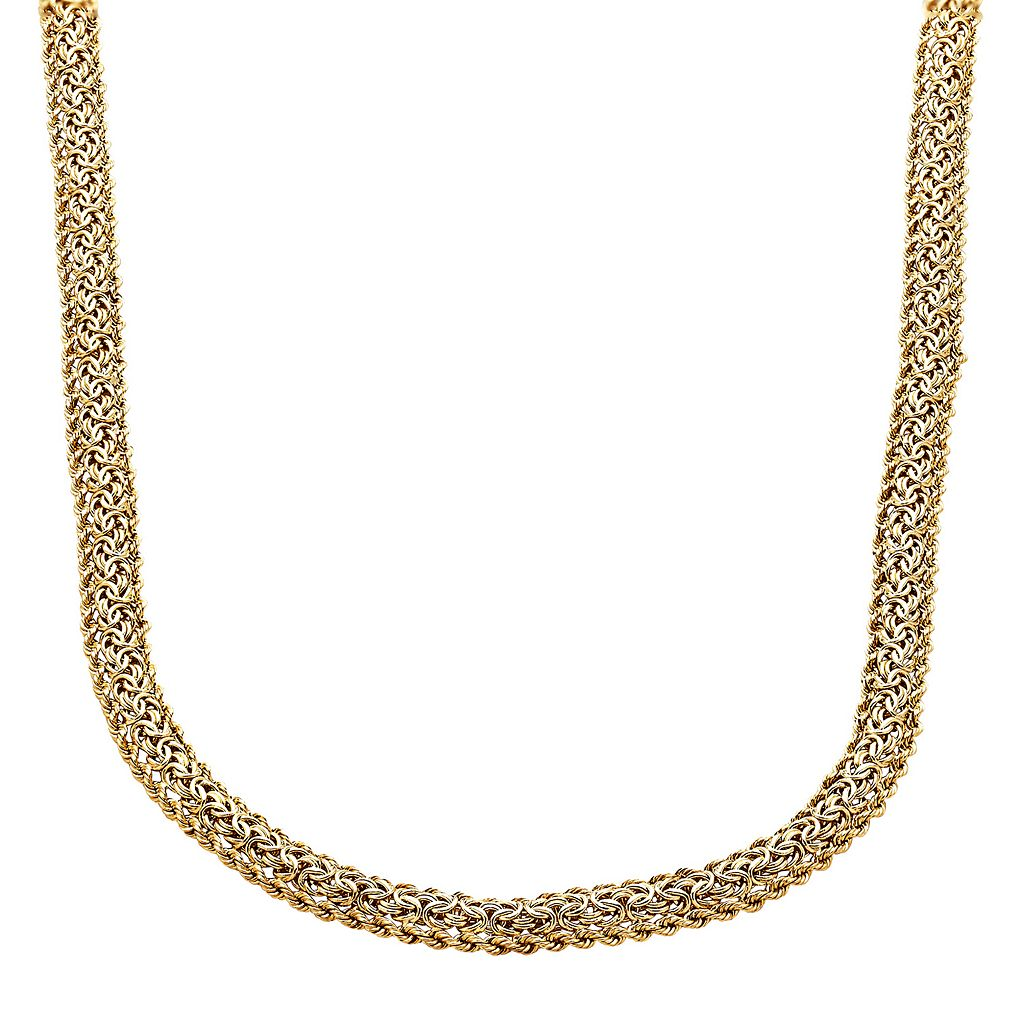 Everlasting Gold 10k Gold Byzantine Chain Necklace - 18 in.