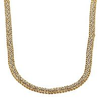 Everlasting Gold 10k Gold Byzantine Chain Necklace - 18 in