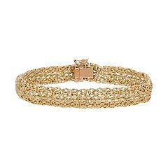 Everlasting Gold 10k Gold Byzantine Chain Bracelet