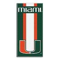 Miami Hurricanes Zone Beach Towel